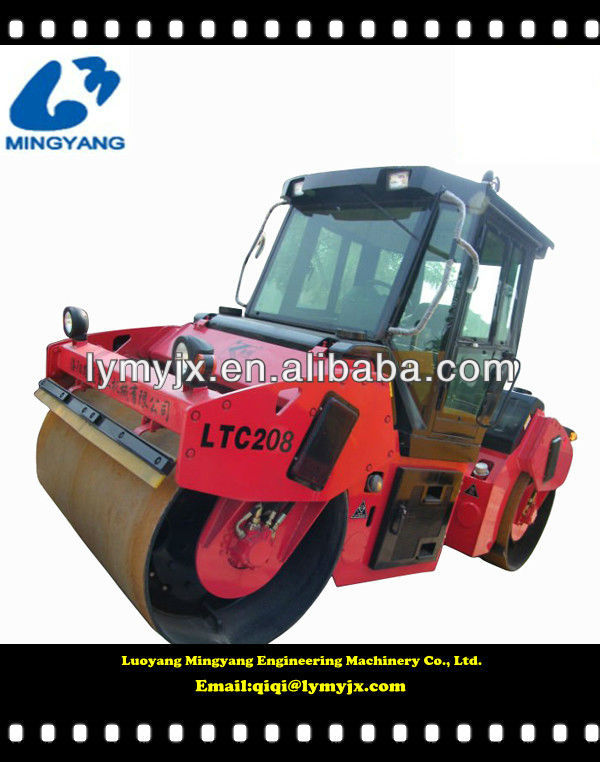 fully hydraulic 10t double drum vibratory roller LTC210