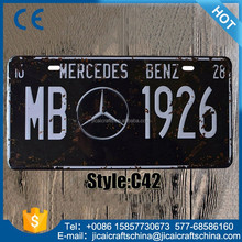 customer design souvenir license plate