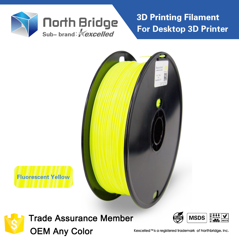 kexcelled 3d printing consumables , plastic spool rod 3.0mm 1.75mm abs pla 3d printer filaments