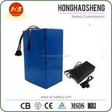 Shenzhen factory customized 72v 40ah lifepo4 battery pack for electric bicycle