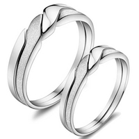 Hot Selling High Quality Simple Two-tone Twist Lovers Ring For Couples