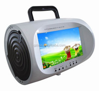 7'' portable car dvd player remote control low price with av input