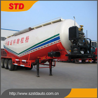 China type 50 tons tri-axle powder tanker for Malaysia