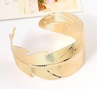 Vintage Open Bangle Chain Link Ring Antique Silver Carved Leaf Flower Bracelet