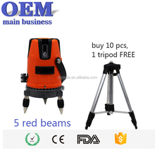New 5 line 6 points cheap price red beam laser level home hardware
