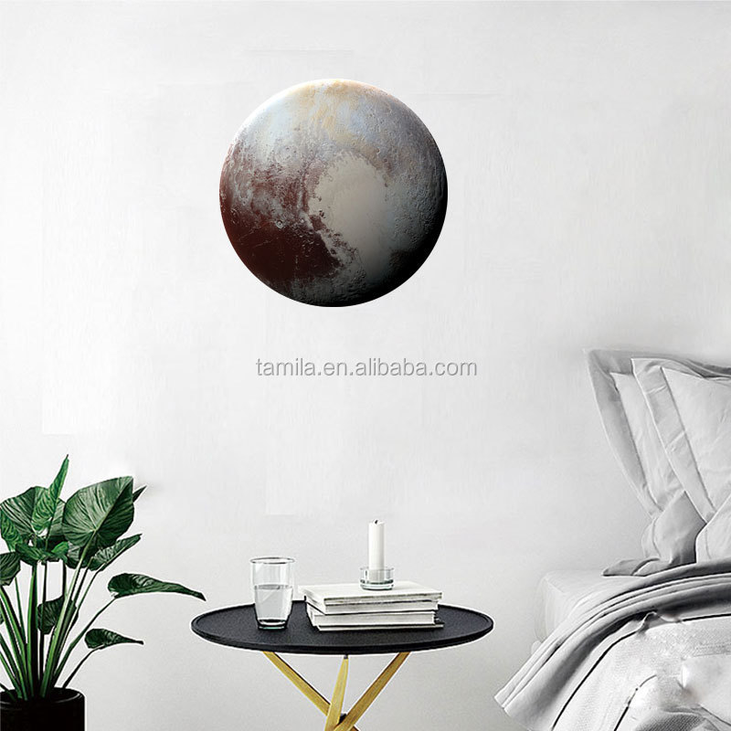 30cm 3D PVC The Planets Pluo Glow in the Dark Rim Sticker