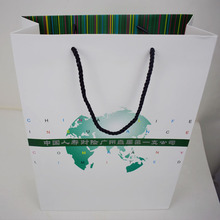 Chinese supplier custom printed paper bag shopping gift handle bag with logo printed