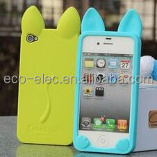 3D KOKO Cute Ear Cat Soft Silicone Case For iPhone 4/4S/5/5S/6/6S/6 Plus Ear can Open the screen