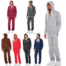 High Quality Custom Men's Casual Athletic Sport Running Workout Jacket Pants Hooded Zipper Tracksuit Sweat Suit Set