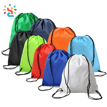 Cheap colorful waterproof shopping bags 2017 nylon polyester cotton drawstring bag Untearable tyvek rope backpack bag