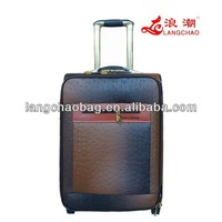 ostrich skin leather trolley case bag luggage set