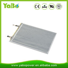 Prismatic Size Li-polymer Type lithium polymer battery 3.7v with 2500mah