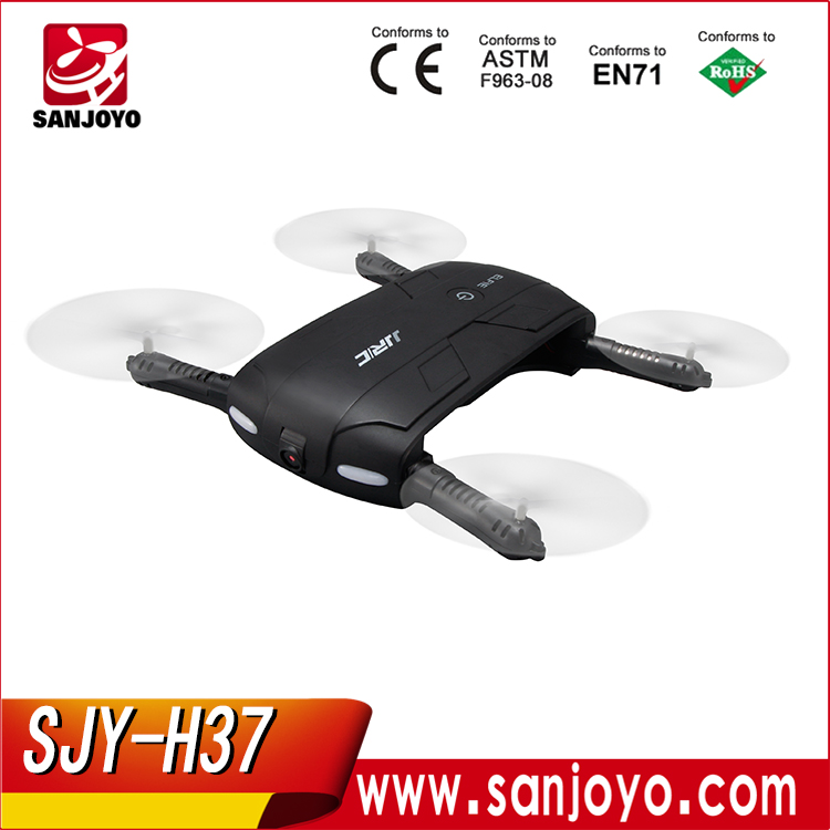 Original JJRC H37 ELFIE 6-axis Gyro WIFI FPV Quadcopter Mini Drone With 0.3mp Wifi HD Camera fold aircraft PK Dobby SJY-H37