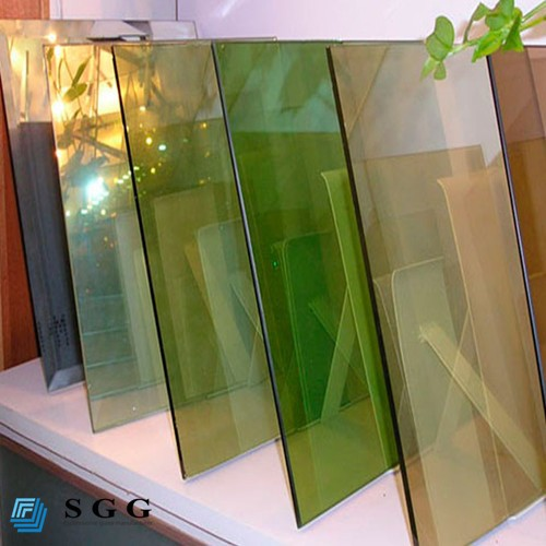 China good price one way reflected glass bronze blue green grey 4mm 5mm 6mm