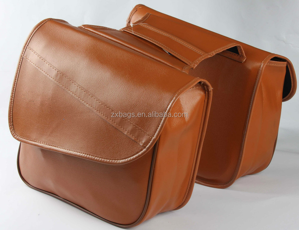 italian leather pannier bag/leather bag for bike