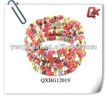 Newest design cheap wood bangle bracelets(QXBG12019)