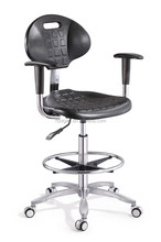 Fire Retardant Pu Computer Lab Chair/ Lab Stool/ Laboratory Chair