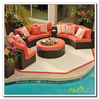 Audu Commercial Resin Oval Wicker Outdoor