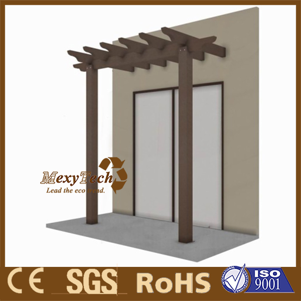 UV resistance wpc villa decorative wooden pergola