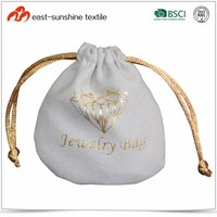 Wholesale Screen Printed Logo Microfiber Gift Pouch for Jewelry