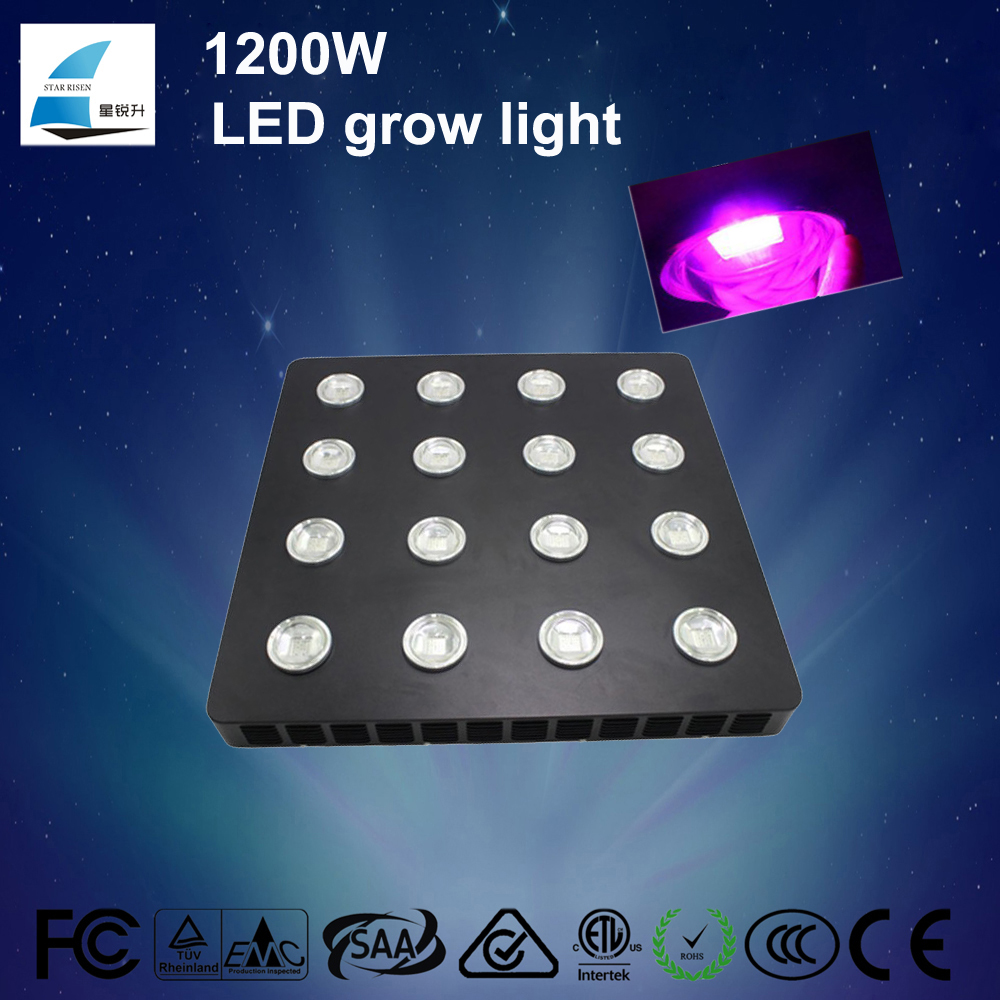 Amazon best selling 380-850nm full spectrum 1200w high power spider cob led grow light