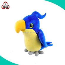customized stuffed birds 10 inch cute plush parrot bird with embroidery