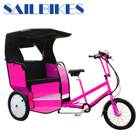 jxcycle pedicab 3 wheel tricycle taxi electric with pedal sensor
