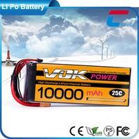 3 Cell Lipo Battery 10000mAh 11.1V 25C