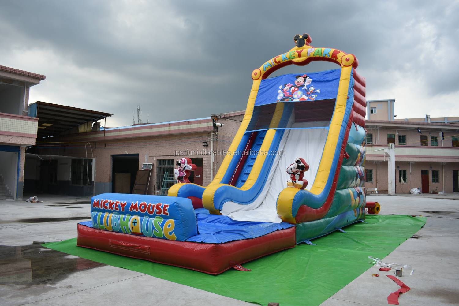 new design inflatable cartoon mouse water slide with pool for kids with best prices