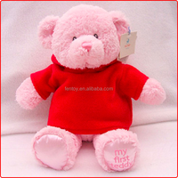 Custom personalized baby teddy bear stuffed plush animal toy