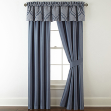 Top class hotel 100% dimout blackout window valance curtain matching bedding set