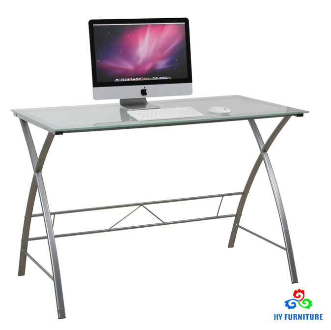 Modern glass portable laptop computer table
