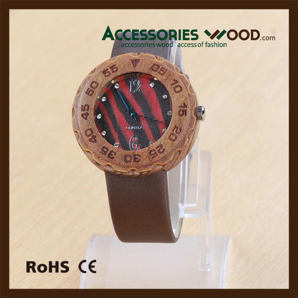 2016 Classical Bamboo Wooden Watch Men Women Wristwatches High Quality Leather Quartz Men Dress