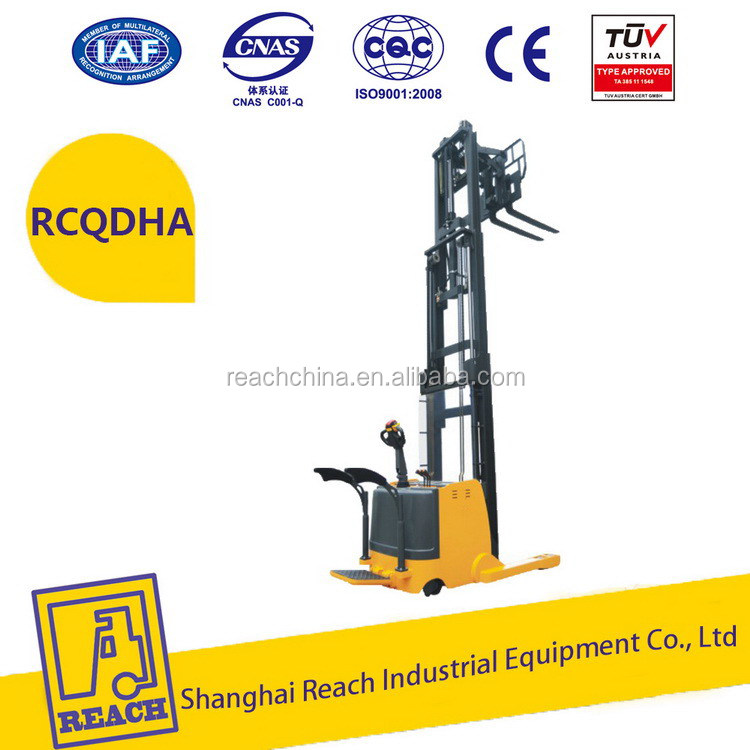 Industry used latest promotion price electric reach forklift stacker truck