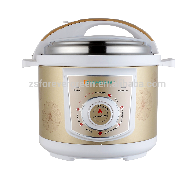 Factory Supplier iron outer body material new non-stick cast aluminum pressure cooker