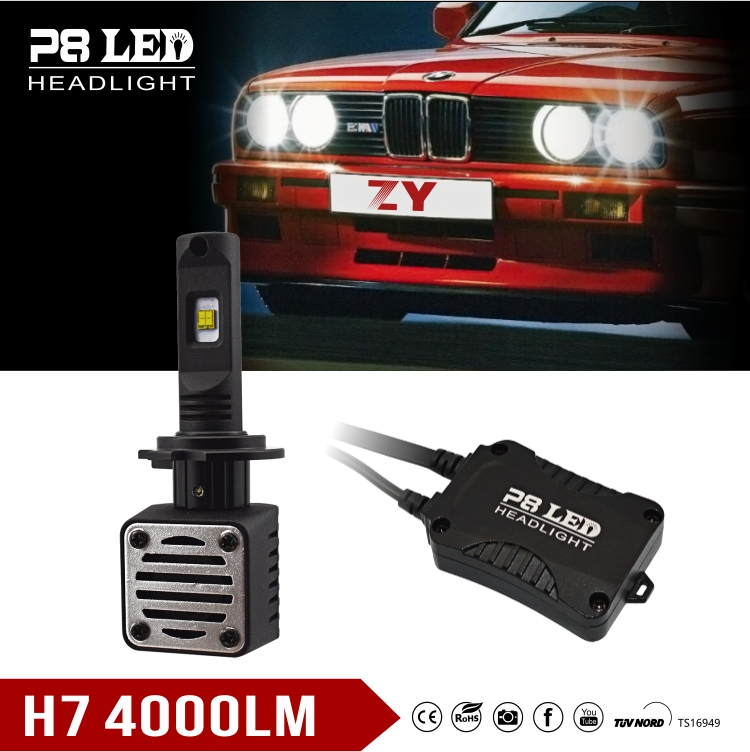 ZY New Auto Bulb Luxeon-MZ 40w 4000 lumen car motorcycle led lighting h1 h3 h4 h7 h11 h13 9004 9006 9007 9005
