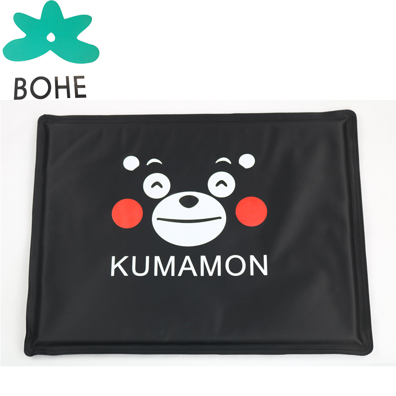 LUVP+K-KUMAMONBlack pet outdoor cooling mat ice pad for dogs cats