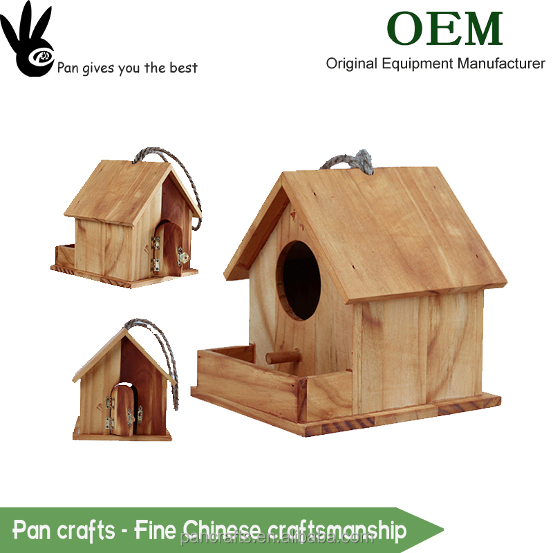 Practical multi-function pine wooden pet bird cage with door have handle for cheap shale