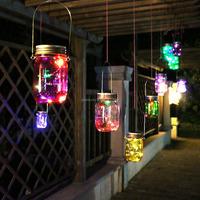 Hanging Glass Mason Jar Solar Powered Lantern Lamp Light Design Wedding