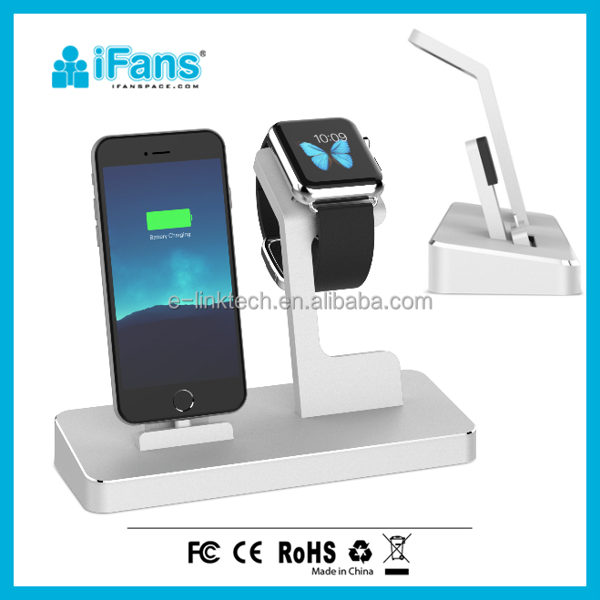3 in 1 MFI charging Dock Power Station HUB,with smart Watch Stand, iPhone7, and 2 USB output for smart devices