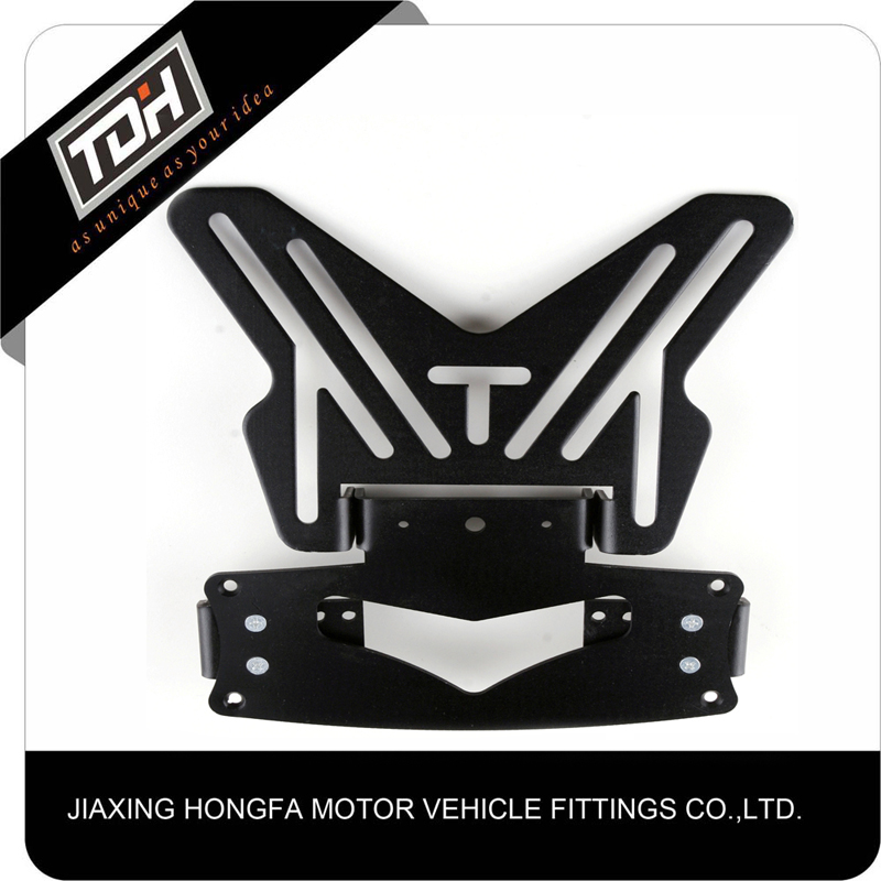 2017 Wholesale New Design Motorcycle Number Plate Holder Black With Hot Sale