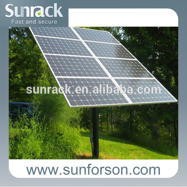 Simple roof photovoltaic panel solar mounting