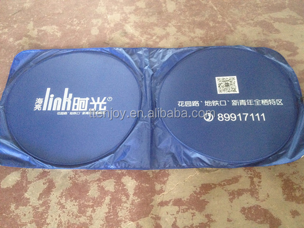 170T polyester car front sunshade
