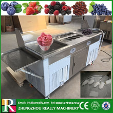 Factory supply 2+10 flat ice pan commercial Thailand fried ice cream roll machine price for sale