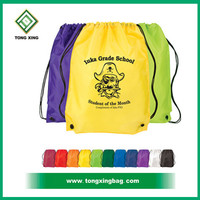 210D Nylon polyester Drawstring bag with strong string, cotton Drawstring bag