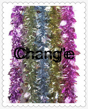 2m long PET tinsel cheap tinsel