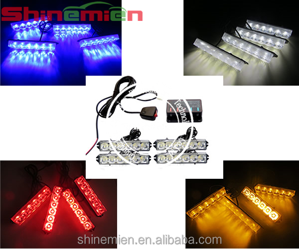 12 Volt 24 led Emergency Strobe Warning Flashing Grille Lights