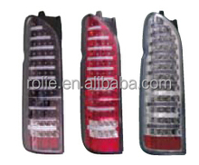 Toyota hiace van 2005-2010 Modification of modification of LED tail lamp with white,black,red background
