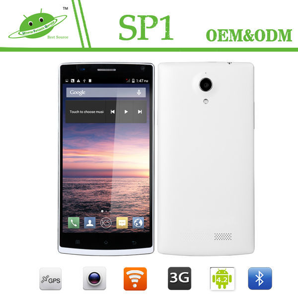 Newest China Mobile 5.5 Inch MTK6582 Quad Core 1G RAM 8G ROM Dual SIM Card OEM Mobile Phone