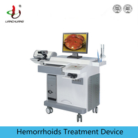 Hemorrhoids treatment device with electric plier tweezer knife and electrocoagulation
